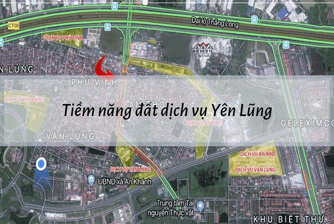 Tiềm năng phát triển của đất dịch vụ Yên Lũng